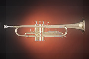 Jazz Band Art - Trumpet Soft Spotlight by M K  Miller