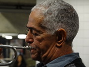 Trumpet Photo Originals - Trumpeteer in the Subway on 59th Street by Padamvir Singh