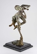 Musicians Sculpture Originals - Trumpeter Draped quarter life by Richard MacDonald
