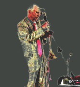 Trumpeter  Print by Yury Bashkin