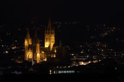 Truro Cathedral Illuminated Print by Brian Roscorla