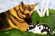 Bunny Paintings - Trust by Debbie LaFrance