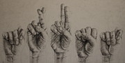 Sign Language Drawings - Trust by Lindsey Weinrich