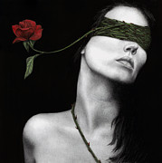 Blindfold Framed Prints - Truth of Beauty Framed Print by Pat Erickson