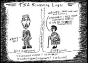 Thedailydose.com Drawings Originals - TSA Follies by Yasha Harari