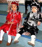 Headdresses Art - Tsagaan Sar Girls by Diane Height