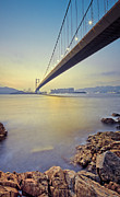 Lens Flare Prints - Tsing Ma Bridge Print by Andi Andreas