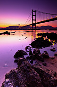 Illuminated Tapestries Textiles - Tsing Ma Bridge by Kenny Chow Kmdd
