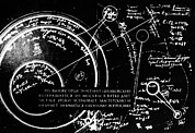 Diagram Art - Tsiolkovskys Works On Space Conquest by Ria Novosti