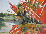 Kerala Paintings - Tsunami by Art Nomad Sandra  Hansen