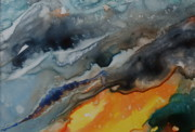Rushing Water Paintings - Tsunami by Joanne Smoley