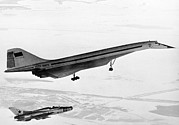 Passenger Plane Framed Prints - Tu-144, The First Supersonic Jet , 1969 Framed Print by Ria Novosti