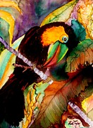 Talking Painting Acrylic Prints - Tu Can Toucan Acrylic Print by Lil Taylor