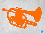 Mid Century Design Prints - Tuba  Print by Irina  March
