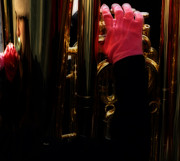 Tuba Prints - Tuba with Pink Print by Steven  Digman