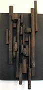 Cardboard Mixed Media Metal Prints - Tube Metal Print by Ralph Levesque