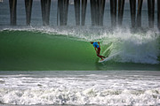 California Surfing - Tube Ride by Larry Marshall