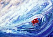 Danger Paintings - Tube Riding The Banzai Pipeline Redux by Stanley Morganstein