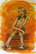 Converse Paintings - Tube Socks And Chucks by Michael Scholl