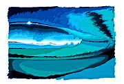 Surfing Art Mixed Media - Tube Time by Tim Foley