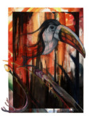 African-american Mixed Media - Tucan by Anthony Burks