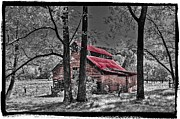 Red Roof Prints - Tucked In Print by Debra and Dave Vanderlaan