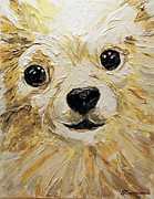 Service Dog Prints - Tucker Close Up Print by Veronica Zimmerman