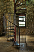 Winding Stairs Prints - Tuckers Tower Winding Staircase Print by Tamyra Ayles