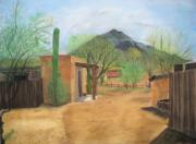 Adobe Pastels Prints - Tucson Ranch Print by Maris Sherwood