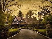 Country Road Digital Art Framed Prints - Tudor Estate Framed Print by Jessica Jenney