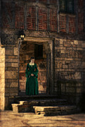 Aristocracy Photos - Tudor Lady in Doorway by Jill Battaglia