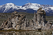 Snow-covered Landscape Metal Prints - Tufa at Mono Lake California Metal Print by Garry Gay