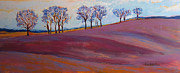 Grafton Ma Paintings - Tufts in Early Spring by Allison Coelho Picone