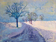 Nature Medicine Paintings - Tufts in Winter by Allison Coelho Picone