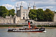 Tower Of London Framed Prints - Tug and the Tower Framed Print by Dawn OConnor