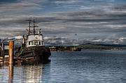 R J Ruppenthal Metal Prints - Tug Boat at the Docks Metal Print by R J Ruppenthal