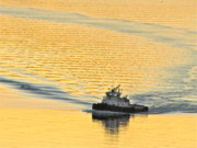 Commencement Bay Prints - Tugboat at sunset Print by Sean Griffin