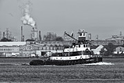 Captain America Photo Prints - Tugboat Captain D in Newark Bay II Print by Clarence Holmes