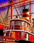 Tall Prints - Tugboat Helen McAllister Print by Chris Lord