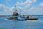 Hudson River Tugboat Photos - TugBoat by Michelle Cruz