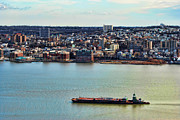 New York Harbor Prints - Tugboat on the Hudson Print by Paul Ward