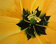 Flower Center Paintings - Tulip Center by Betty-Anne McDonald