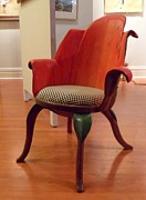 Wood Sculpture Originals - Tulip chair by Hans Droog