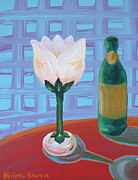 Champagne Paintings - Tulip Champagne by Michael Baum