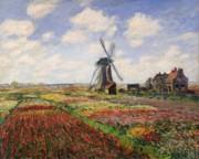 Claude Monet - Tulip Fields with the Rijnsburg Windmill
