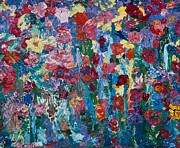 Impressionistic  On Canvas Paintings - Tulip Memories by Tara Leigh Rose