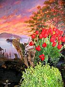 Mural Photo Posters - Tulip Town 19 Poster by Will Borden