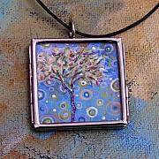 Blue Flowers Jewelry - Tulip Tree by Dana Marie