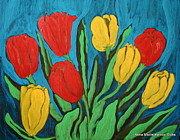 Folkartanna Painting Metal Prints - Tulips Metal Print by Anna Folkartanna Maciejewska-Dyba