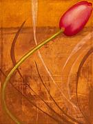 Floral Painting Prints - Tulips are People XI Print by Jerome Lawrence